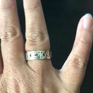Coach signature silver ring. Size 6